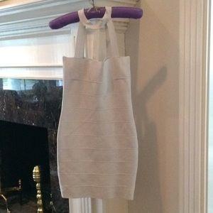 Silver column dress